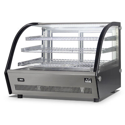 Brand New Commercial Benchtop Hot Pie Display Showcase Stainless Steel 900mm