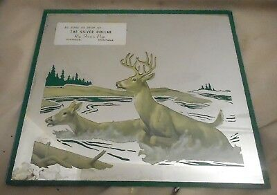 Vintage Advertising The Silver Dollar Mirror, From Chinook Montana