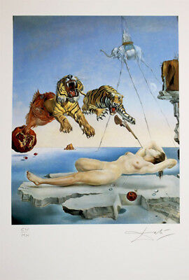 SALVADOR DALI  - Dream Caused by the Flight of . Signed and numbered. 65 x 50 cm