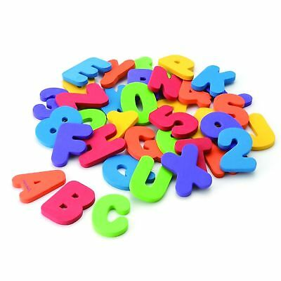 Munchkin Bath Toys Floating Letters Numbers Stick On Bathroom Tub Walls 36 Count