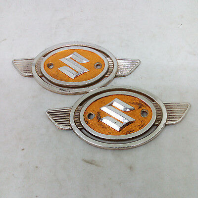 Genuine Suzuki T125 T200 T250 T350 T500 Tc125 Stinger Emblem Gas Tank Used [A36]