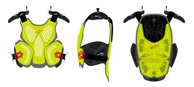 Pettorina Alpinestars A-4 Giallo Fluo Yellow Full Chest Protector Cross Enduro