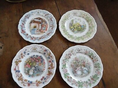 The Brambly Hedge Royal Doulton The Four Seasons 1983 In Plates 6 1/4