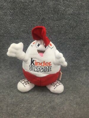 "7"" Bean Bag Plush Kinder Surprise Egg With Red Hat."