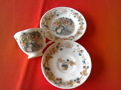 "Royal Doulton Brambly Hedge ""Autumn"" Miniature Cup Saucer and Plate"