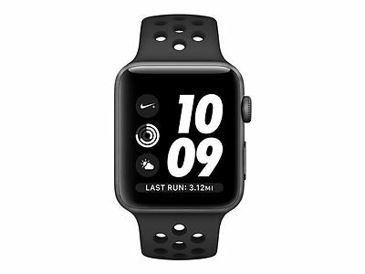 Nike Apple Watch 42mm ANTHRAZIT / SCHWARZ (für ALLE Watch-Modelle, NUR Band)