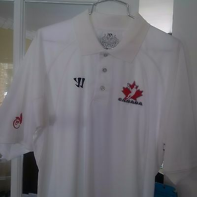 WARRIOR Blitz - Team Canada Lacrosse Mens Golf Shirt - White - M - NEW