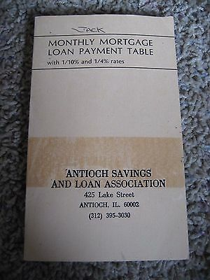 Monthly Mortgage Loan Payment Table, 1979, ANTIOCH S & L, Illinois, 8.5 to 13%