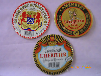 Etiquettes  Camembert Fromage