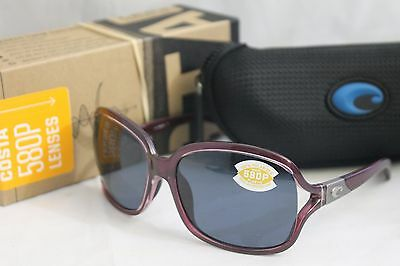 25d1d0244e85d New COSTA DEL MAR BOGA POLARIZED WOMEN S SUNGLASSES Orchid Purple   580P  Gray