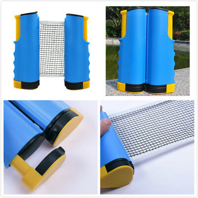 Blue Retractable Table Tennis Mesh Portable Gym Playing Ping Pong Net