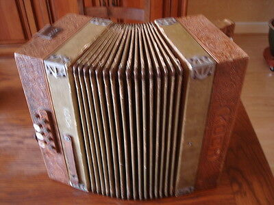 Accordeon Ancien Koch Armonica Bois
