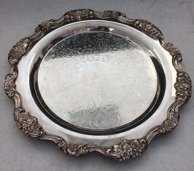 Towle Silver-plated Large 12 Inch Serving Plate #6981 Vintage