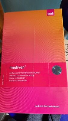 Mediven Plus pair of medical stockings/ flying , black open toe UNOPENED