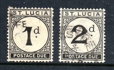 St Lucia - 1933-47 KGVI Postage Dues SG D3 & D4 Fine Used - Cat £19.50