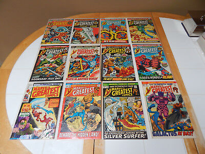"Large Lot Of 12 Bronze Age ""Marvel's Greatest Comics"" #'s 23-44 FN/VF Cond."