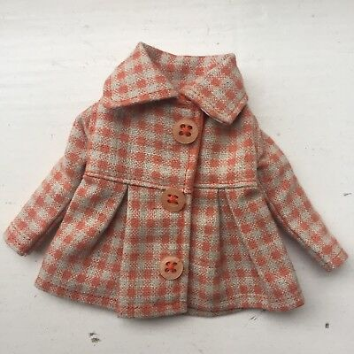Moshi Moshi Orange Checked Gingham Coat for Blythe Dolls- Excellent!