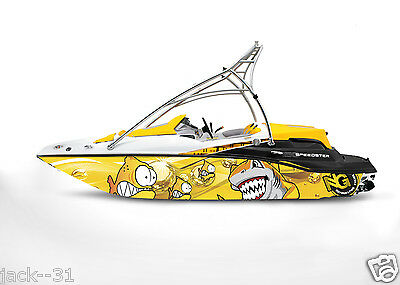 Ng Graphic Kit Decal Boat Sportster Sea Doo Speedster Sport Wrap Scared Fish