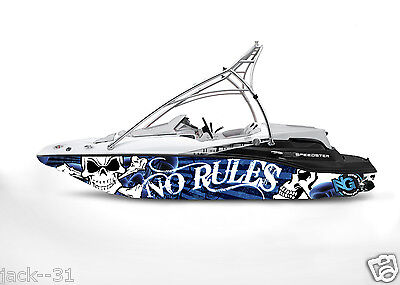 Ng Graphic Kit Decal Boat Sportster Sea Doo Speedster Sport Wrap Skull No Rules