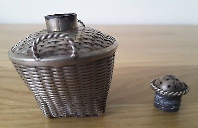 Antique Chinese Silver Plated Pounce Pot/shaker Circa 1900
