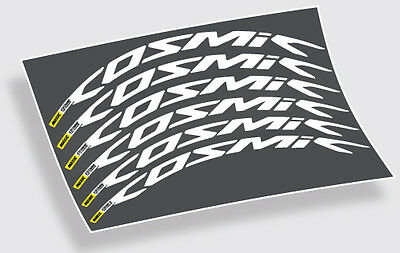 Mavic Cosmic Pro Carbon decals stickers labels for 700c 40mm 45mm 52mm wheels