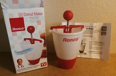 Ronco Donut Maker Specialty Appliances Box Instructions Recipes Brand New!