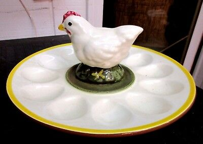 Rare Stangl Pottery Chick Chicken Deviled Egg Tray Dish