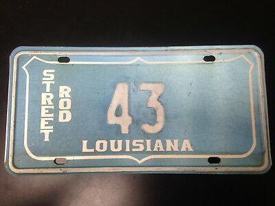 Louisiana Street Rod Blue License Plate Two Digit 43