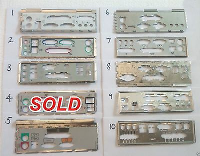 I/o Io Plate Back Shield Choice Of One For Matx Atx Unknown Motherboard Pc Lot 3