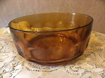 French Amber Glass Fruit Bowl. Arcoroc