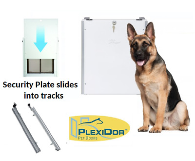 Plexidor Tracks for Security Plate Dog Doors- Wall or Door, All Sizes, Finishes
