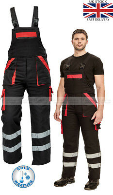 Insulated Winter Work Bib and Brace Overalls Wind and Cold Protection Bib Pants