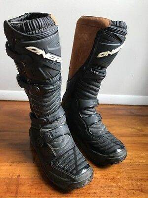 ONEAL ATV MX ATV MOTOCROSS MOTORCYCLE BOOTS SIZE 12 Suede Mix Black Off Road