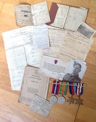 D-DAY 21st ARMY GROUP SOLDIERS MEDALS, WILLYS GPW JEEP DRIVER IN WW2