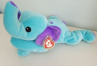 Ty Beanie Pillow Pal Squirt Elephant
