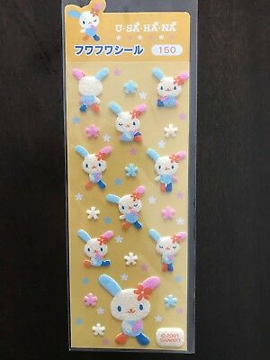 Sanrio Hello Kitty U SA HA NA Bunny Rabbit Felt Stickers
