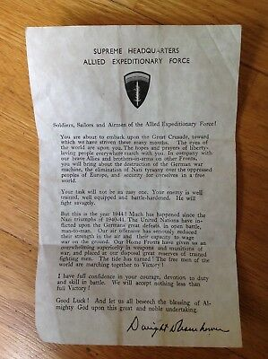 WW2 ORIGINAL 21st ARMY GROUP WILLYS JEEP DRIVERS D- DAY LEAFLET , RARE ITEM