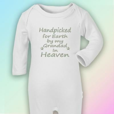 Handpicked for Earth Grandad Embroidered Baby Romper Babygrow Gift Heaven