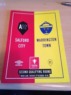 2017/18 Salford City V Warrington Town - Fa Youth Cup
