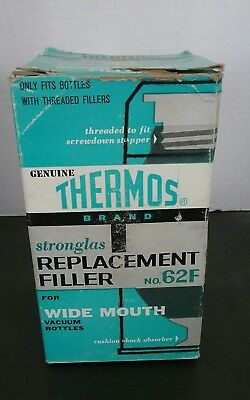 Vintage Genuine THERMOS brand REPLACEMENT FILLER no. 62F Wide Mouth