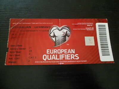 Sammler-Ticket: AZERBAIJAN v GERMANY DFB (FIFA WORLD CUP 2018 Q)