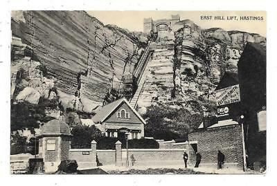 Real Photographic Postcard Of East Hill Lift Hastings Sussex Interesting Message