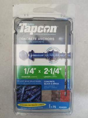 """ITW Brands 24325 1/4"""" x 2.25"""", Steel, Hex Washer Head Concrete Anchors"""