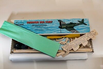 """West Wings Hawker Sea Fury. 21.6"""" Flying Model For Rubber Power Or Miniature RC"""