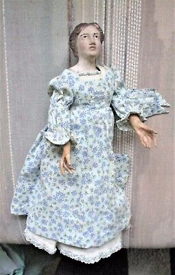 Vintage Doll, Red bisque clay/ paper mache. Hand painted features, Coronet hair