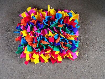 Pet snuffle Rug mat boredom buster treat mat multi colour  ideal for outdoors