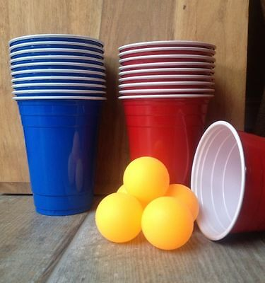 Original American Style Beer Pong Set/Kit/Pick Your Own Quantity/Blue Vs Red