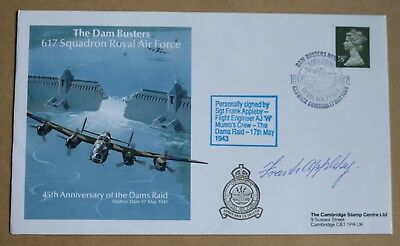 617 Squadron Dambusters Squadron 1987 Cover Signed By Gunner Harvey Weeks