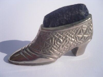 Vintage Silver Plated Victorian Style Ladies Shoe Pin Cushion