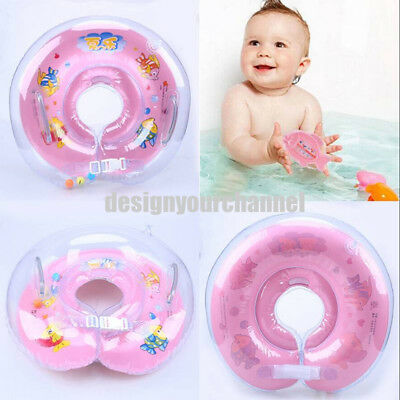 Infant Baby Bath Swimming Pool Folding Adjustable Float Ring Protect Safety Seat